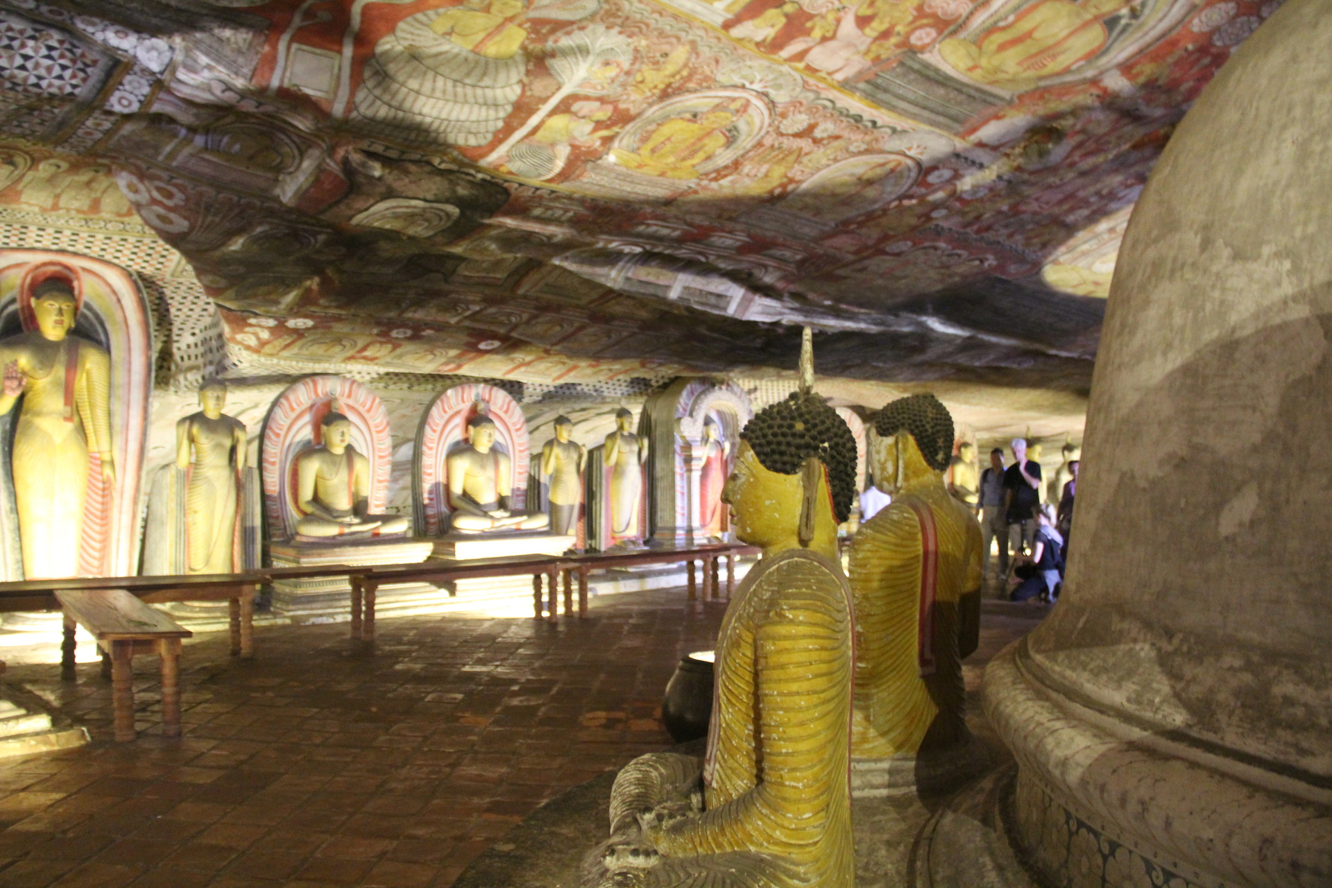 Visite des grottes de Dambulla