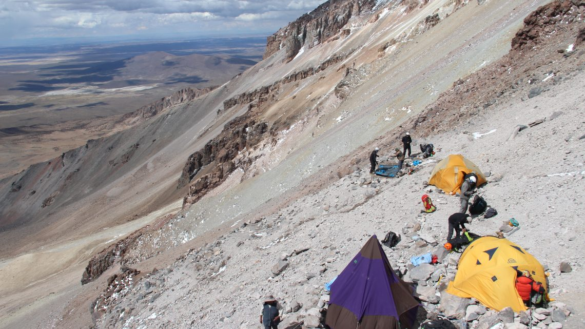 Climb to Sajama high-altitude camp